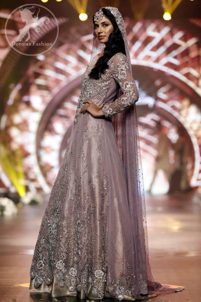 Mauve Bridal Dress For Walima | Latest Asian Bridal Wear Women ...