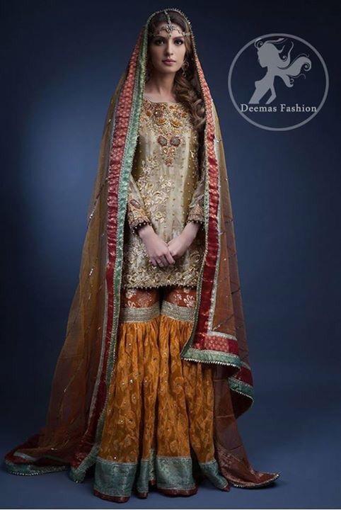 Pakistani Bridal Mehndi Dress 2017